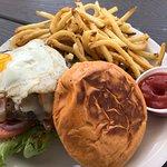 Sunrise burger with fries