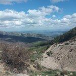 Vista del puerto de la Morcuera dirección Miraflores de la Sierra