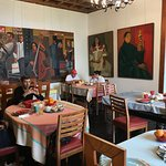 some of the art in the dining room
