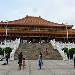 The main temple on a Sunday