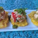 Conch Salad on Tostones