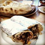 gyro wrap and turkish nan