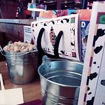 Big bucket of peanuts to munch on ...