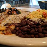 Enchiladas, Black Beans and Rice