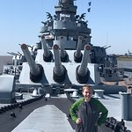 Battleship USS ALABAMA ภาพถ่าย