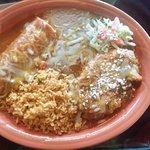 Combination #4 with carne asada burrito and chile relleno