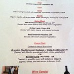daily specials at Osteria Trulli