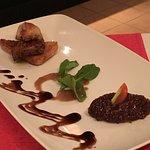 foie gra - a small thin slice