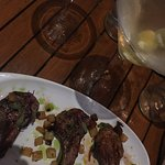 Lamb chops and a dirty martini