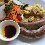 German Sausage w/Pan-fried Potatoes & Sauer Kraut
