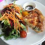 Salmon quiche & salad