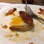 egg and bacon pintxo