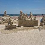 sand sculpture on beach
