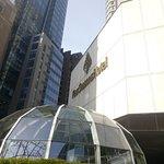 太平洋購物中心入口與飯店一樓外