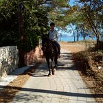 riding on Sami beach