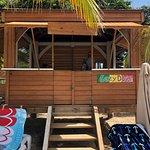 Gazebo we rented at Reggae Beach