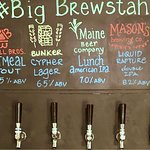#bigbrewstah 5 tap Maine craft beer available whenever you like! Rotating selections