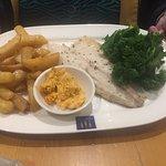 Tasty mixed fish grill