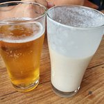 banana lassi and gorkha beer