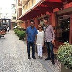 Outside Hotel Sultania with Aykut