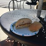A great 2 egg sandwich on a fresh kaiser roll. Egg a little crisp on the outside yoke hard but n
