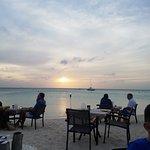 Sunset Dinner on The beach at Marriott.