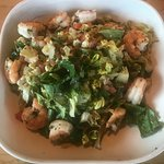 An appetizer cobb salad. I substituted the chicken and bacon for just shrimp.