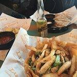 Taco Salad, Quesadilla's, Chips and Salsa and Corona..mmmm!