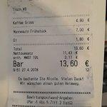 Mannequin Frühstück +dazu bestelltes gekochtes Ei/größer Kaffee/RE -Top Service - Sehr leckeres
