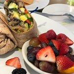 veggie wrap with fruit