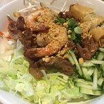 Green mint noodle bowl