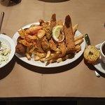 Seafood Basket with gumbo and slaw