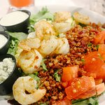 grilled shrimp Cobb salad