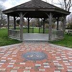 Gazebo and memorial brick plaza
