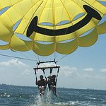 First time parasailer Mallory with veteran Ella at Fort Myers Beach!