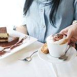 Dessert and Cappuccino