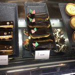 Nice tempting pastries and PJ's coffee