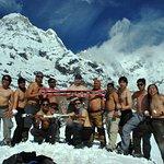 Group phot@ annapurna base camp.#sawasdeenepal