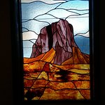 Nice stained glass window Guadalupe Mountain