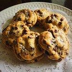 Caramel Chocolate Chip cookies with home made sea salt!