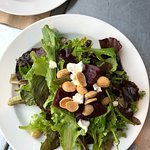 Beet Salad with goat cheese and almonds