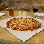 Enjoy any of our pizza's with a full bar to cleanse the palette