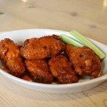 Must try bone-in chicken wings (buffalo or bbq)