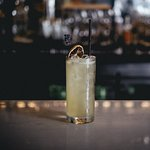 French St. Collins : Mediterranean herbs infused gin, Soda Thai herbs infused sugar syrup, Lemon