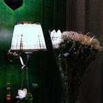 Лампа и наши цветы )