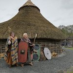 These 2 ladies held our interest as we we shown around this iron age hut