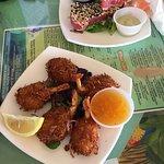 Coconut Shrimp and Seared Tuna