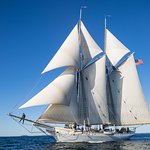 The schooner Mary Day sailing in Penobscot Bay, September 2017