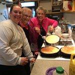 Making Swedish pancakes in the hostel