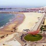 Panorâmica da praia e Porto de Leixões